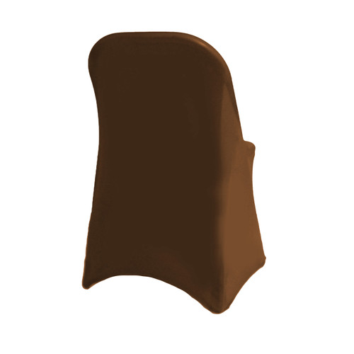 Stretch Spandex Folding Chair Cover Chocolate Brown For Hotels