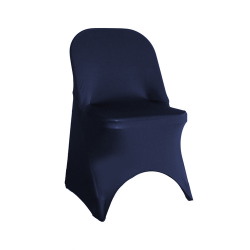 Stretch Spandex Folding Chair Cover Navy Blue