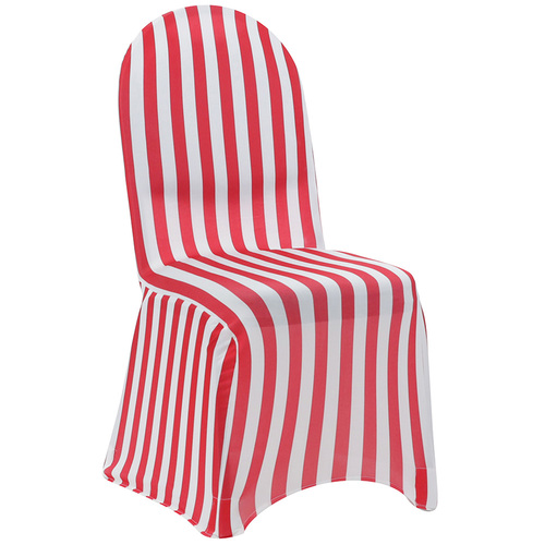 red and white spandex chair covers
