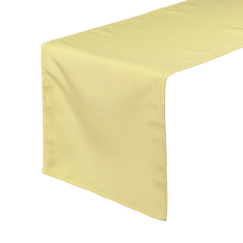 14 x 108 inch Polyester Table Runner Pastel Yellow