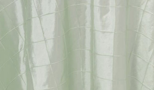132 Inch Pintuck Taffeta Round Tablecloth Mint Ivory (CLEARANCE)