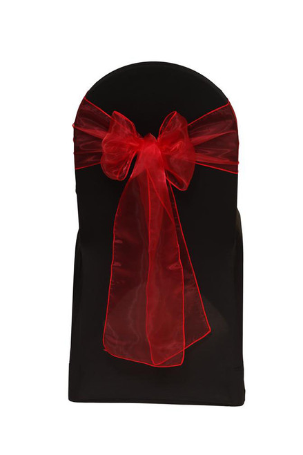Organza Sashes Red