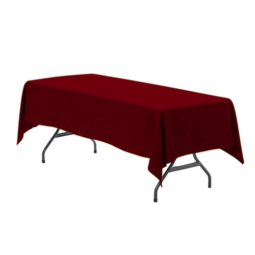60 x 102 inch Rectangular Polyester Tablecloth Burgundy