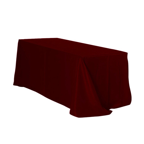 90 x 132 inch Rectangular Polyester Tablecloth Burgundy