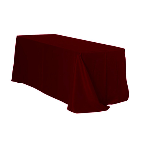 90 x 156 Inch Rectangular Polyester Tablecloth Burgundy