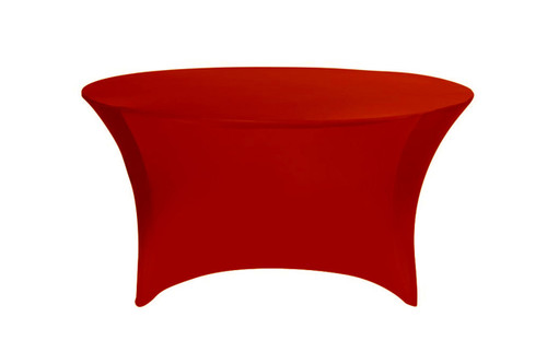 Stretch Spandex 5 ft Round Table Cover Red