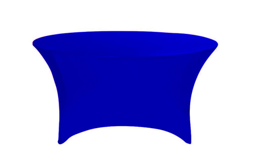 Stretch Spandex 5 ft Round Table Cover Royal Blue