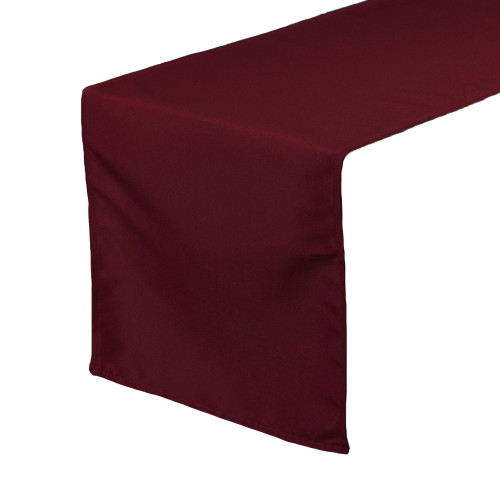 14 x 108 inch Polyester Table Runner Burgundy