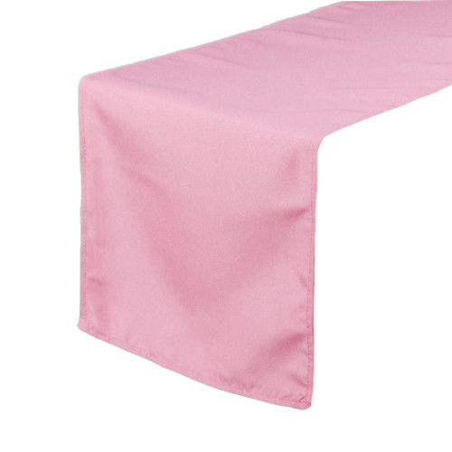 14 x 108 inch Polyester Table Runner Pink