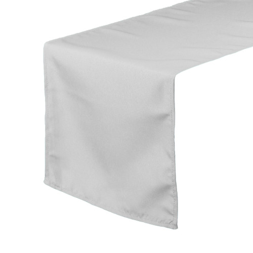 14 x 108 inch Polyester Table Runner Silver