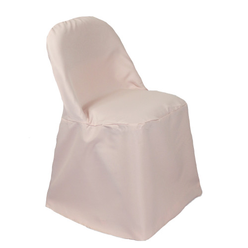 Polyester Folding Chair Covers Blush