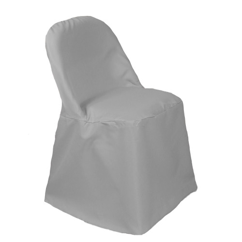 Polyester Folding Chair Cover Gray