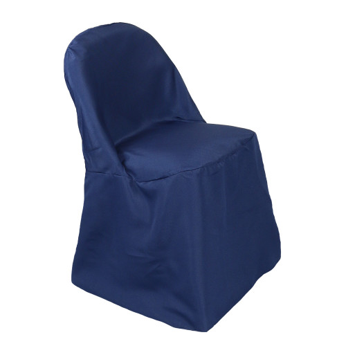 Polyester Folding Chair Cover Navy Blue