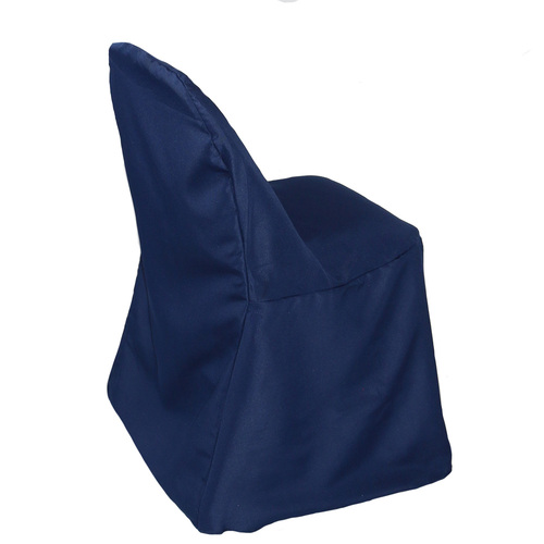 Wholesale Polyester Folding Chair Cover Navy Blue