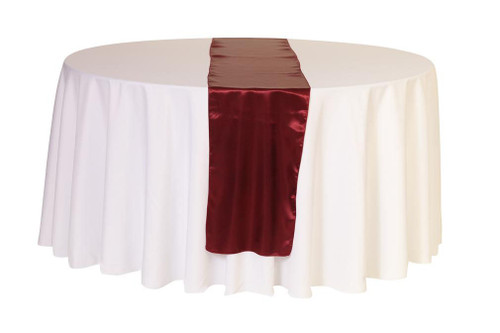 14 x 108 inch Satin Table Runner Burgundy