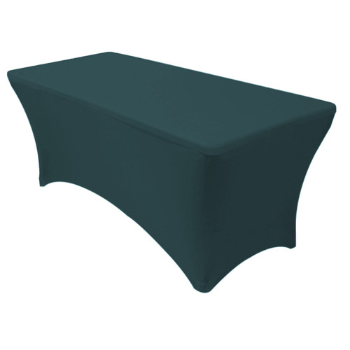 Spandex 8 Ft Rectangular Table Cover Hunter Green