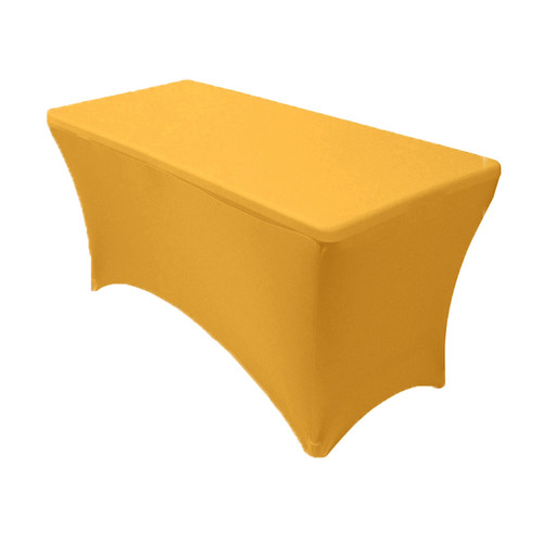 Spandex 4 Ft Rectangular Table Cover Gold