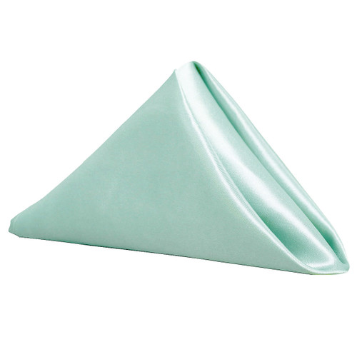 Satin Cloth Napkins Mint
