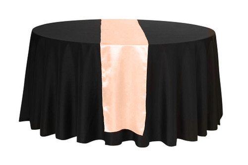 14 x 108 inch Satin Table Runner Peach