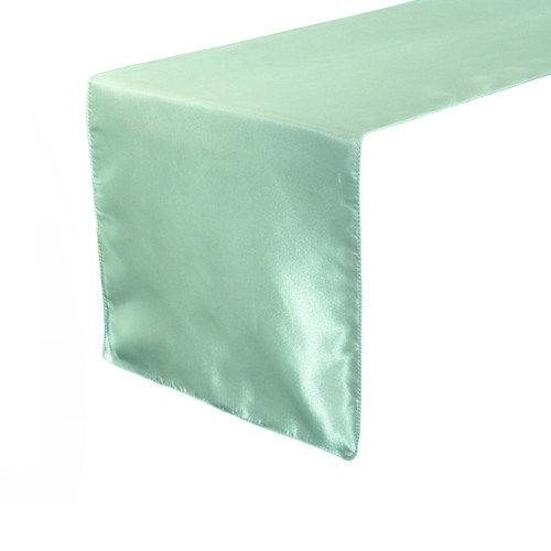 14 x 108 inch Satin Table Runner Mint