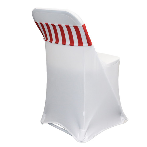 Spandex Chair Sashes striped