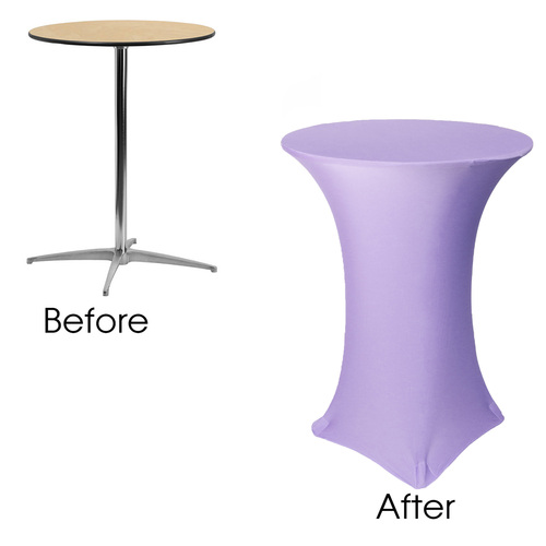 Cocktail Table Covers Before After Wedding