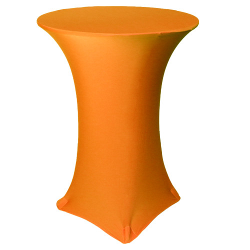 30 inch Highboy Cocktail Round Stretch Spandex Table Cover Orange