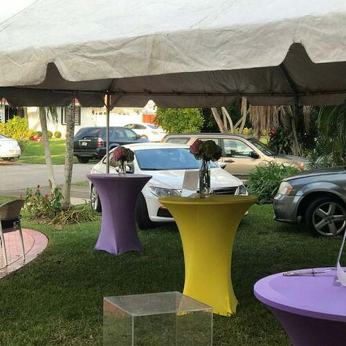 yellow cocktail table covers