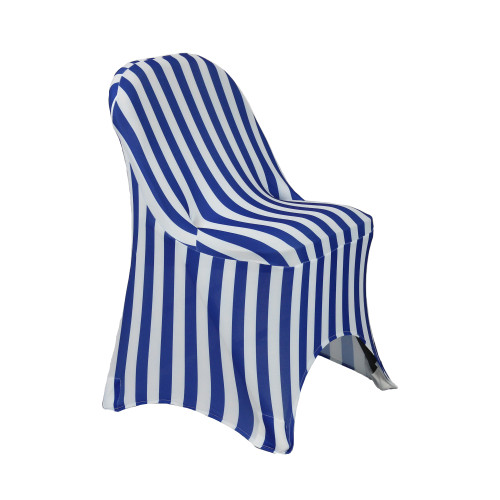Wholesale Stretch Spandex Folding Chair Covers Royal Blue/White