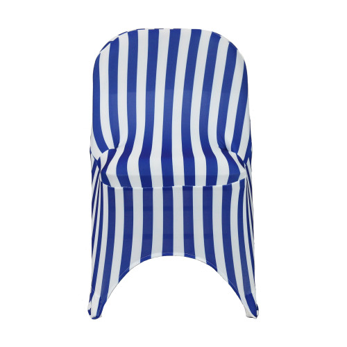 Spandex Folding Chair Covers Royal Blue/White