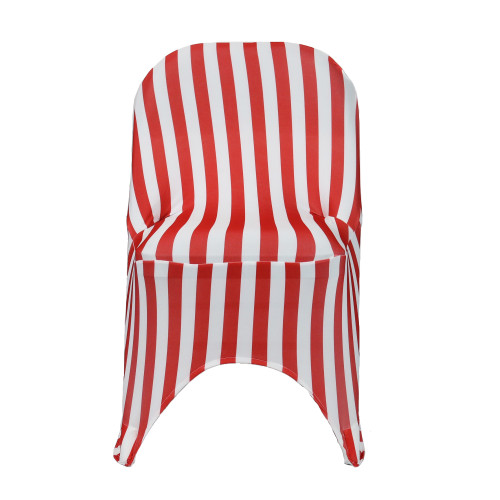 Spandex Folding Chair Covers Red/White Wholesale