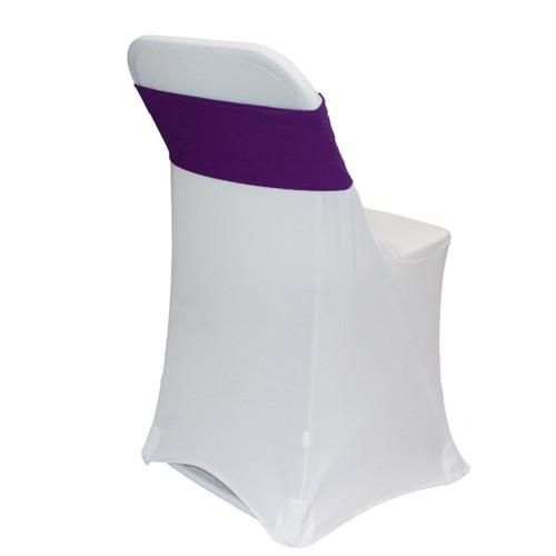 Spandex chair Sashes Eggplant