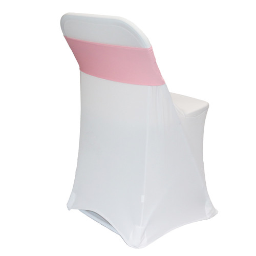 Spandex Chair Sashes Pink