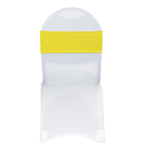 Spandex Chair Bands Yellow