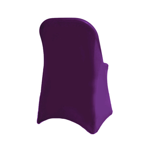 Stretch Spandex Folding Chair Cover Eggplant For Weddings