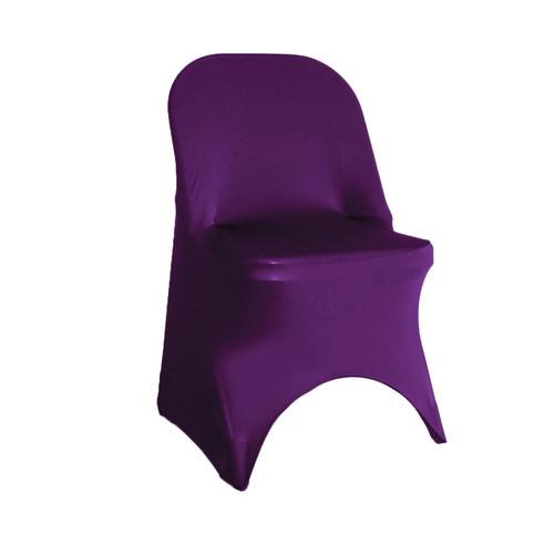 Stretch Spandex Folding Chair Cover Eggplant