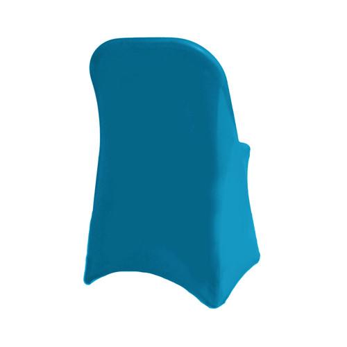 Stretch Spandex Folding Chair Cover Malibu Blue For Weddings