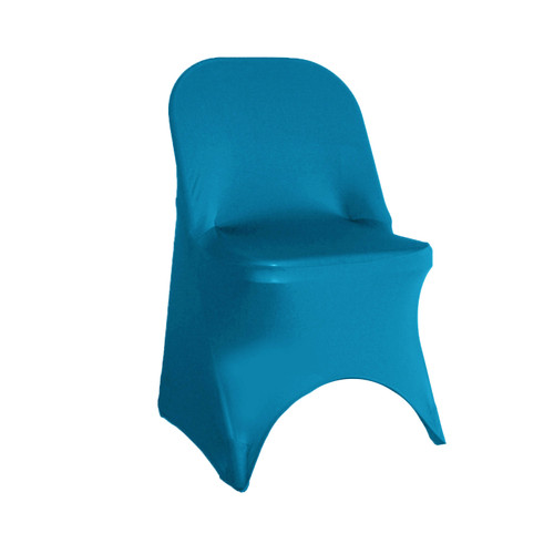 Stretch Spandex Folding Chair Cover Malibu Blue