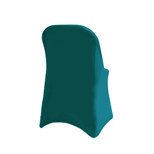 Stretch Spandex Folding Chair Cover Teal For Weddings