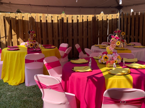 pink spandex folding chair covers