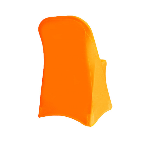 Stretch Spandex Folding Chair Cover Orange For Weddings