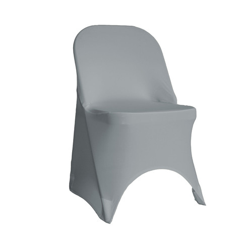 Stretch Spandex Folding Chair Cover Gray