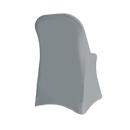 Stretch Spandex Folding Chair Cover Gray For Hotels