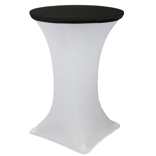 "30"" Stretch Spandex Table Topper/Cap Black"