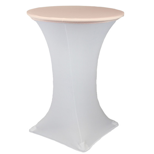 "30"" Stretch Spandex Table Topper/Cap Blush"