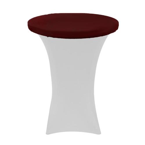 "30"" Stretch Spandex Table Topper/Cap Burgundy"