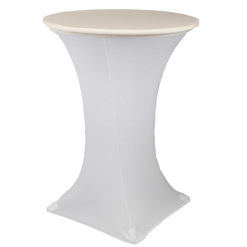 "30"" Stretch Spandex Table Topper/Cap Ivory"