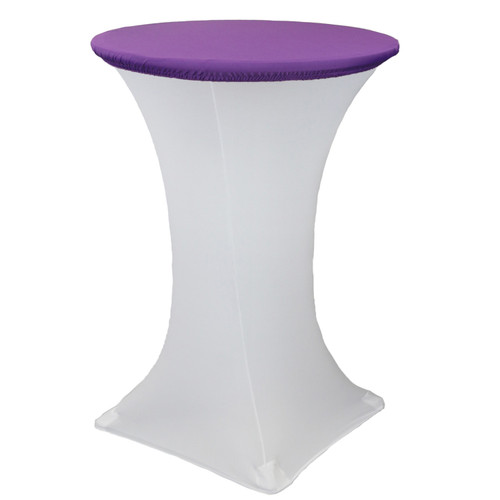 "30"" Stretch Spandex Table Topper/Cap Purple"