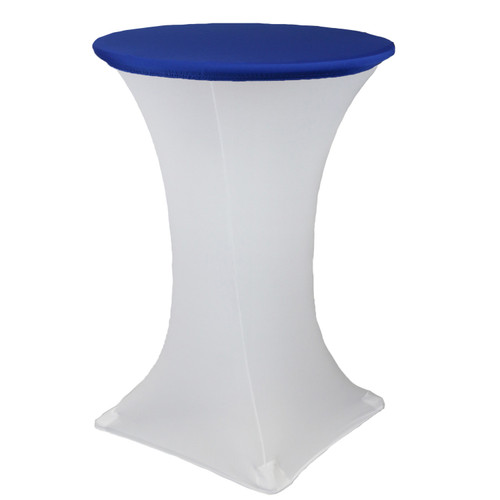 "30"" Stretch Spandex Table Topper/Cap Royal Blue"