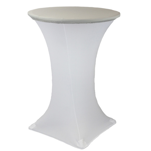 "30"" Stretch Spandex Table Topper/Cap Silver"